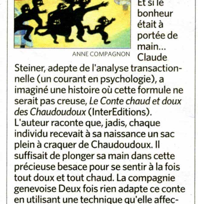 Sortir – Le Temps – décembre 2009