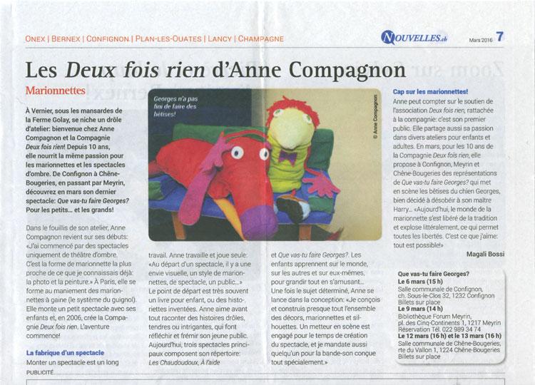 Nouvelles.ch –  mars 2016
